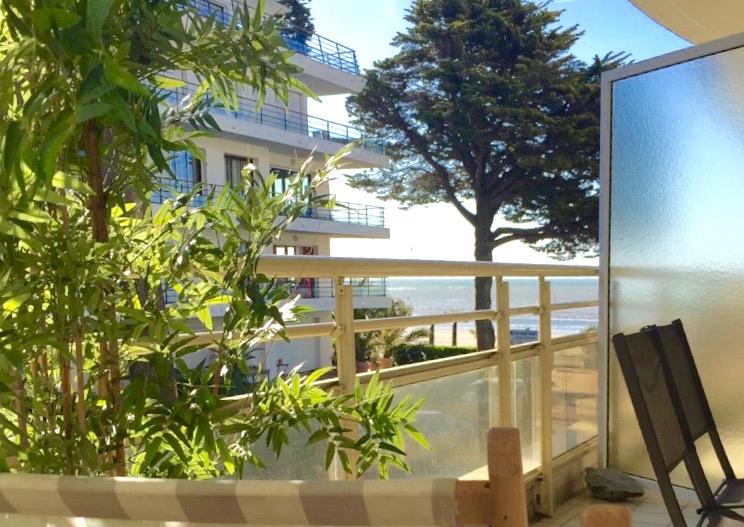 À vendre studio cabine, vue mer latérale, accès direct plage Benoit